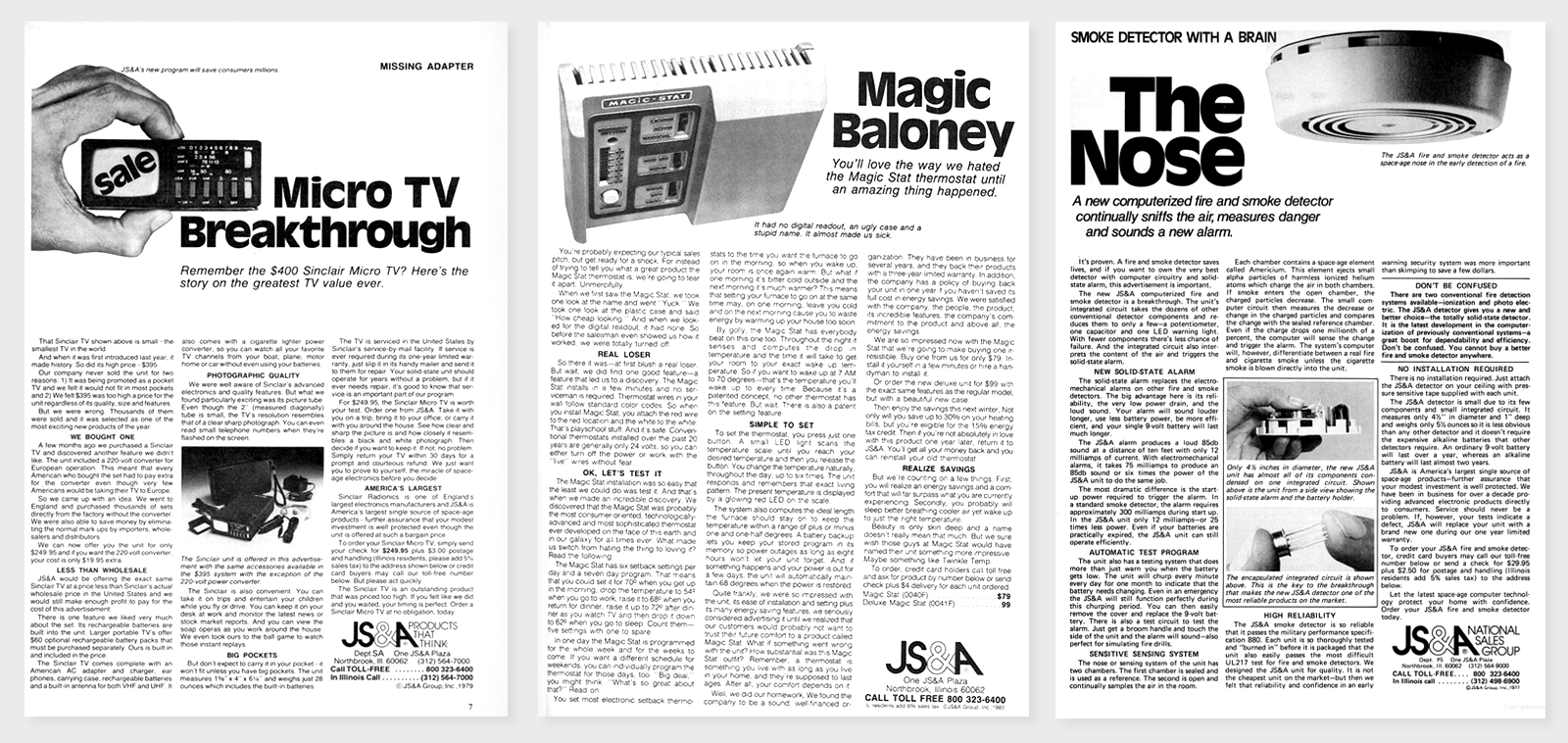 Vintage Ads or Analog Landing Pages?