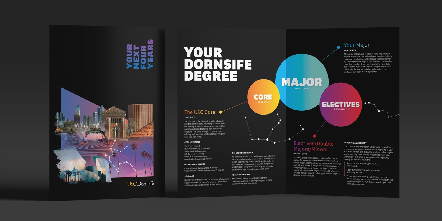 USC Dornsife Marketing Collateral Example - Higher Education Branding Agencies Los Angeles