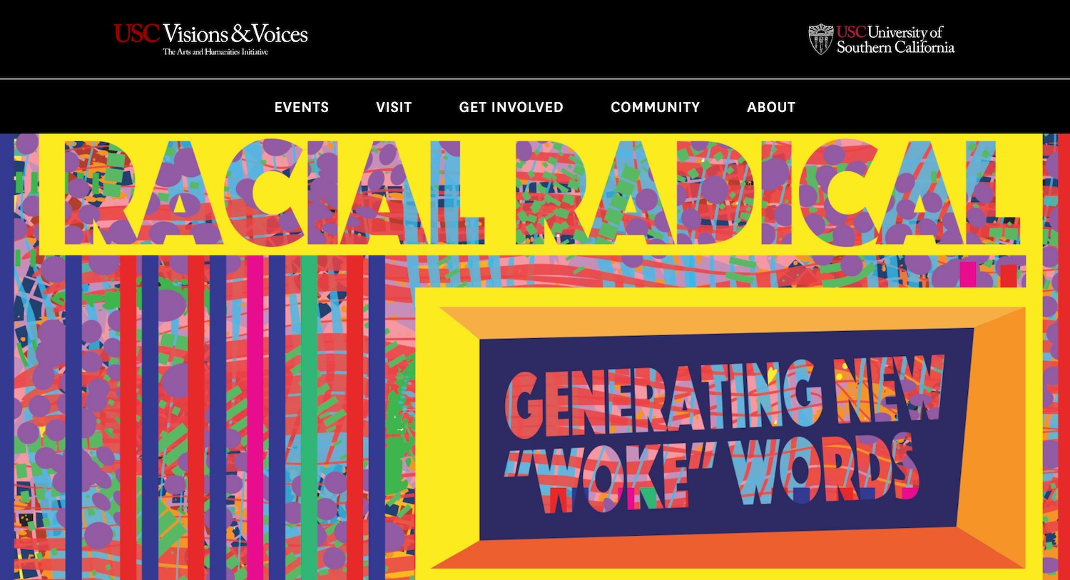 USC Visions & Voices Website - Higher Education Marketing Agency Los Angeles