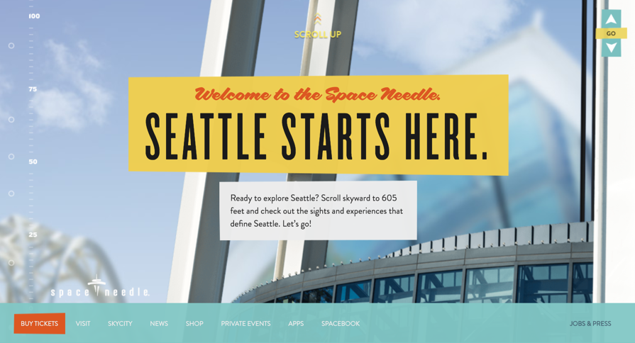 Seattle Space Needle Homepage